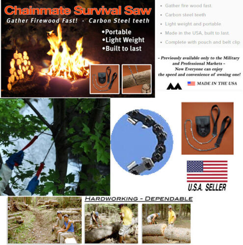 Pocket Saw Chain-mate 24-Inch Survival Saw made in USA Sold in USA