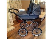 Babystyle Prestige blue Marl travel system includes classic Chassis and S3D Chassis