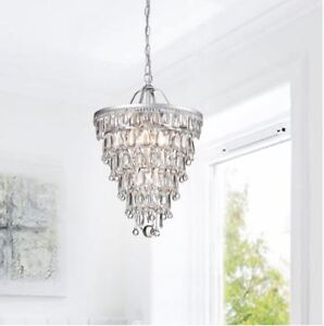 Teardrop  Chrystal Chandelier - restoration hardware inspired