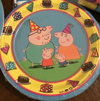 Peppa Pig Birthday Party Supplies-8 7in Small Cake Plates (Peppa Pig Birthday Plates)