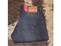 Levi's 511 men's grey slim fit jeans 30 x 30