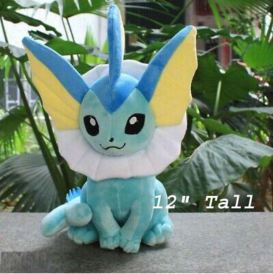 "12"" Large Size Vaporeon Pokemon Soft Stuffed Animal Doll Plush Gift Toy US Stock"