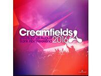 x2 Bronze 4 day camping creamfields tickets