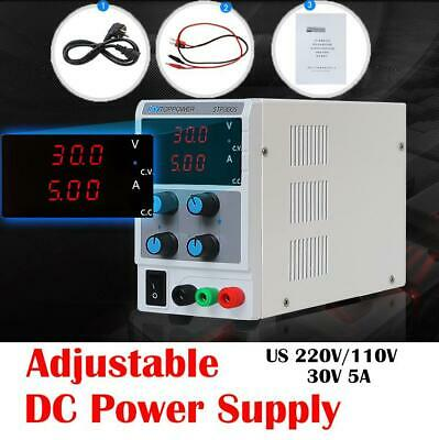 5a 30v Adjustable Dc Power Supply Variable Digital Regulated Lab Test Equipment