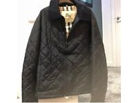 Navy burberry jacket