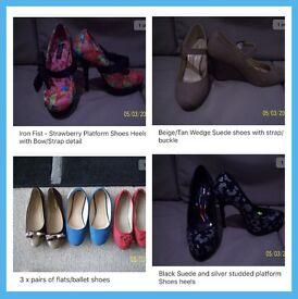 Job lot women's shoes x 22