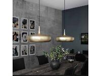 Umage Clava Dine gold brass modern pendant light shade x2