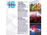 2x Farmfestival 2016 Adult Weekend Tickets For Sale Meet at The Venue