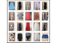 Massive designer clothes handbags joblot bundle Zara mulberry boden river island Levi's etc