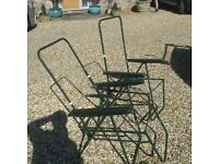 2 Fold Out Garden Chairs without Cushions
