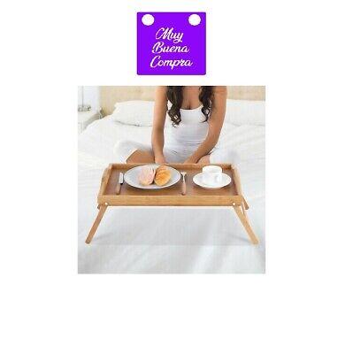 Mesa Con Bandeja Plegable Material De Bambu Para Cama Y Sofa Portatil...