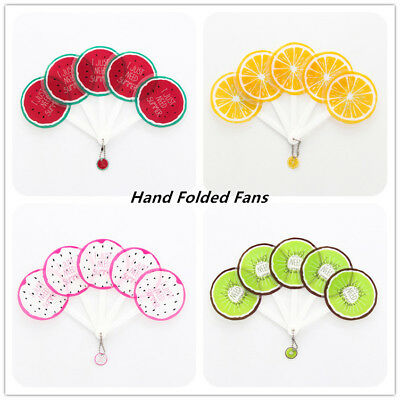 Summer Hand Fans Plastic Portable Fans Fruit Folding Fans Party Handheld Folded - Plastic Hand Fans