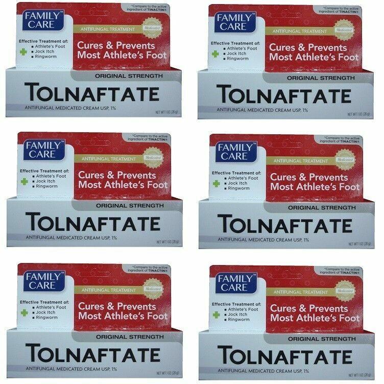 6Pack Cures Athlete's foot,Tolnaftate Cream USP 1%Antifungal