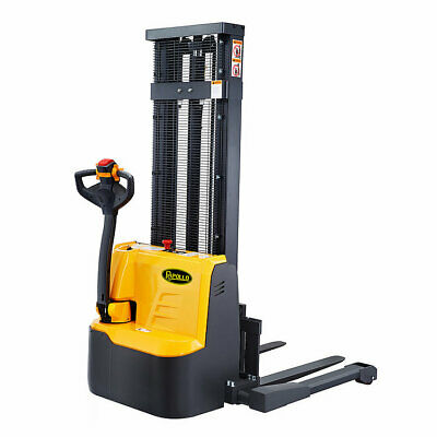 Apollolift Full Electric Drive Straddle Stacker Walkie Truck 118 3300lbs Cap.