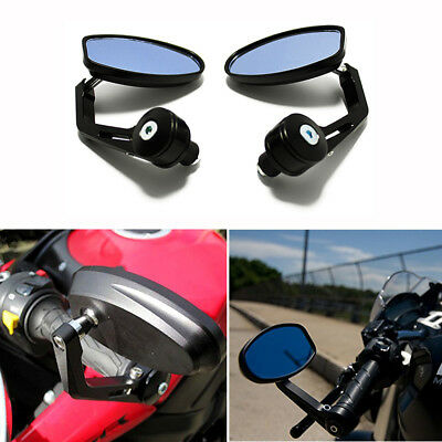 "MOTORCYCLE BLACK 7/8"" BAR END MIRRORS FOR DUCATI MONSTER 620 796 900 1100 1200"