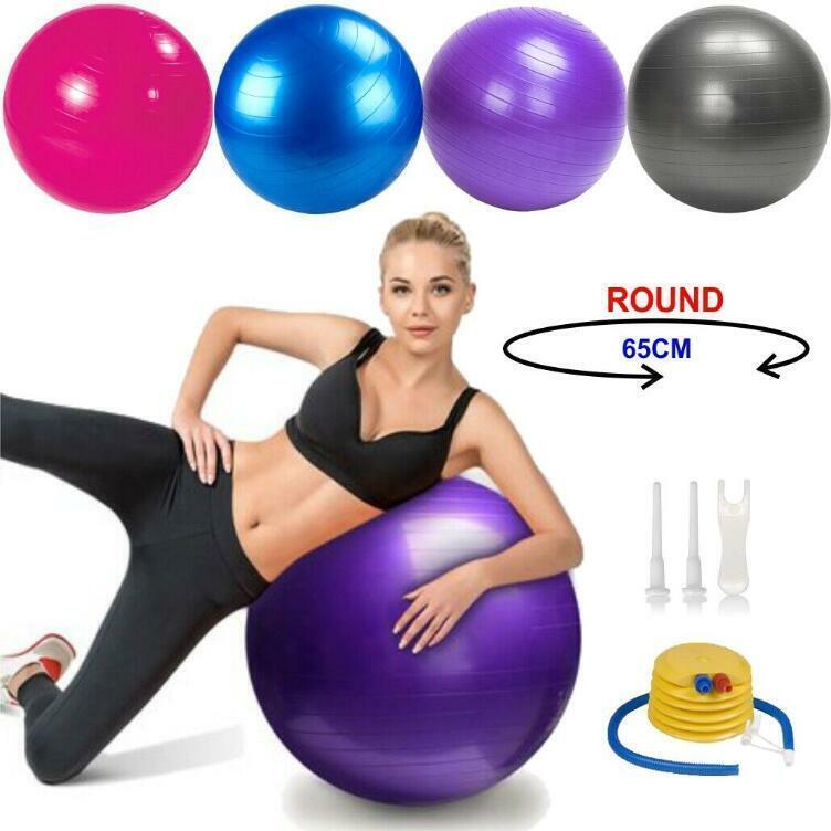 Yoga Ball 200 lbs Balance Trainer Slip Fitness Strength Exer