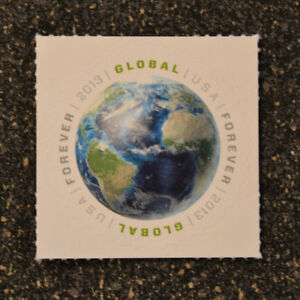 2013USA  #4740   Global Forever Rate - First Ever  -  Mint  NH  earth space