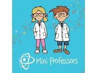 Mini Professors Science Classes for 2-5 year olds in Woodley, RG5, Wednesdays during term time