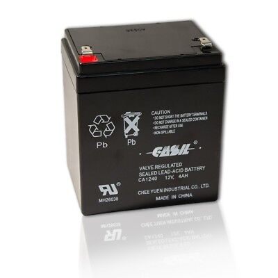CASIL CA-1240 12V 4AH Rechargeable Sealed Lead Acid Battery
