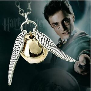 Brand New Harry Potter Silver or Bronze plated Snitch Necklace