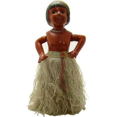 (Large Celluloid and Tin Dancing Hula Girl Wind-up Toy - Near Mint)