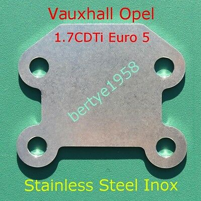 Egr Blanking Plate Opel Vauxhall Corsa Astra Zafira Meriva 1.7 CDTi Euro 5 Block