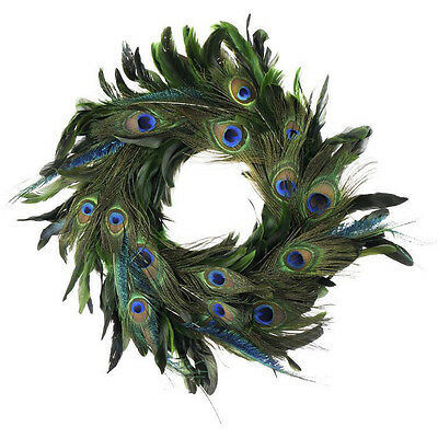 Handmade 18-inch Elegant Feather Holiday Wreath