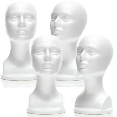 Less Than Perfect Mn-434-ltp 4 Pcs Male Styrofoam Mannequin Head With Long Neck
