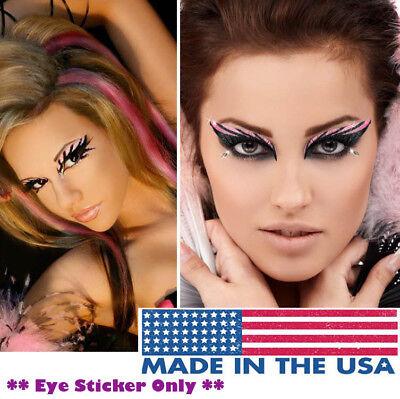 Pink Glitter/Rhinestones Easy Sticker Eye Makeup Fairy Bird Cosplay Costume - Easy Cosplay Costumes For Women