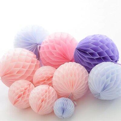 HONEYCOMB Hanging Paper BALLS Wedding Birthday Garland Party Decor Baby Shower](Honeycomb Wedding Decorations)