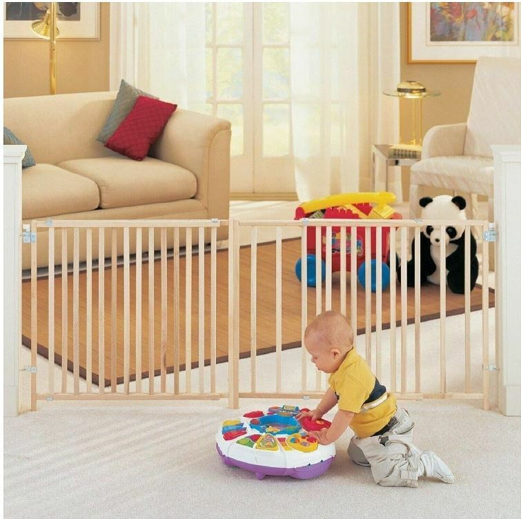 Large Baby Gate Child Dog Pet 5 To 8 Foot Wide Long Gates Ft