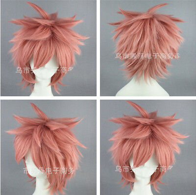 Fairy Tail Natsu Dragneel Cosplay Wig Short Hairstyle Men's Hairpiece Halloween (Halloween Hairstyles)