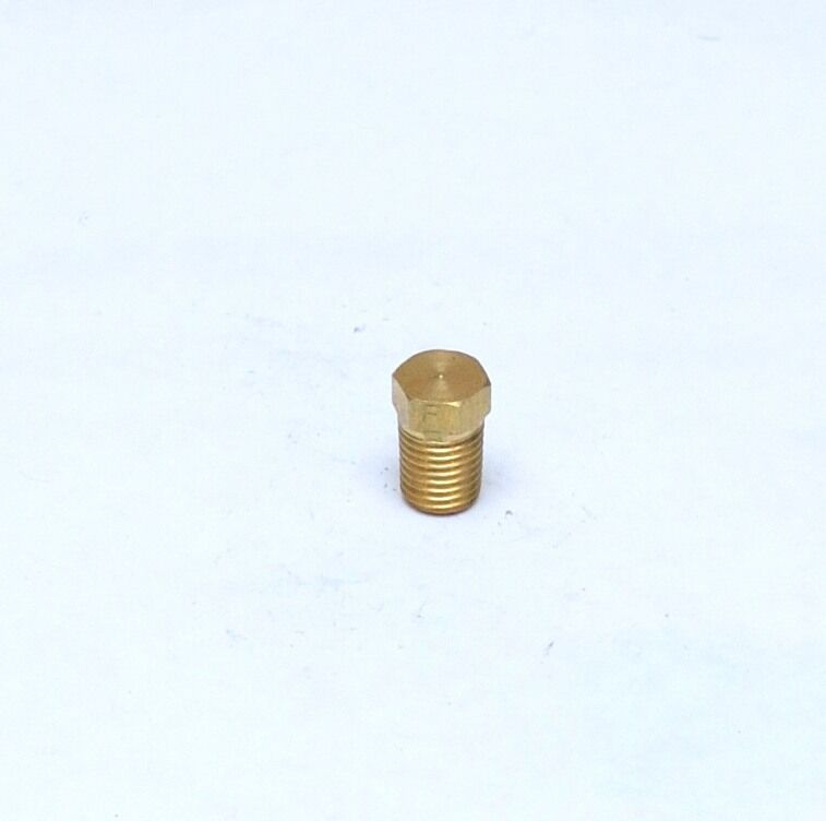 1/16 Male NPT MPT MIP Brass Hex Head Pipe Plug Fitting FasParts Cored Hollowbody
