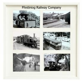 Framed Print of six Photographs of Ffestiniog Railway Company taken in the 1960s frame size 17 x17