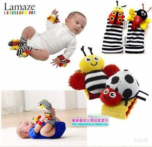 Baby-Toys-Lamaze-Wrist-Watch-Rattles-Foot-Socks-Rattles-hands-feet-finders-0m