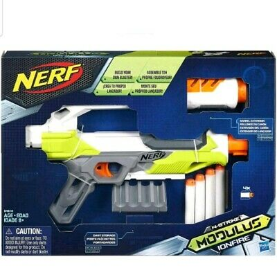 Nerf N-Strike Modulus Ion Fire Nerf Soft Dart Gun Kids Hours of in/outdoor NEW