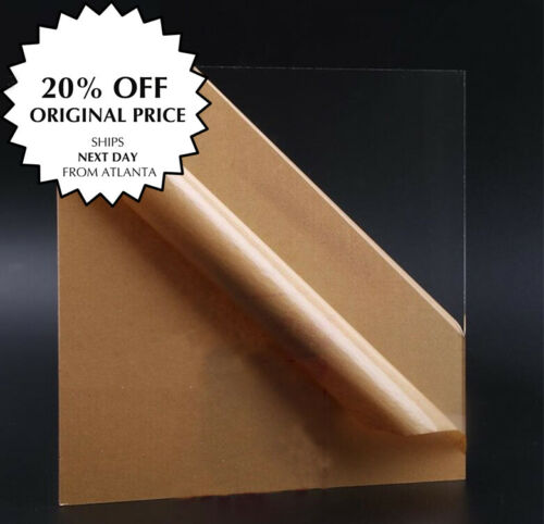 Clear Acrylic Plexiglass Sheet CUT TO ORDER - PICK YOUR SIZE  20% OFF*