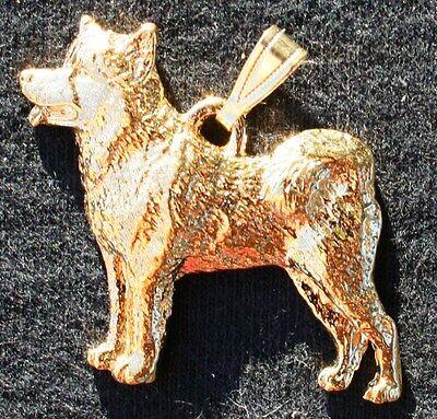 Alaskan Malamute Jewelry (ALASKAN MALAMUTE Dog 24K Gold Plated Pewter Pendant Jewelry USA)