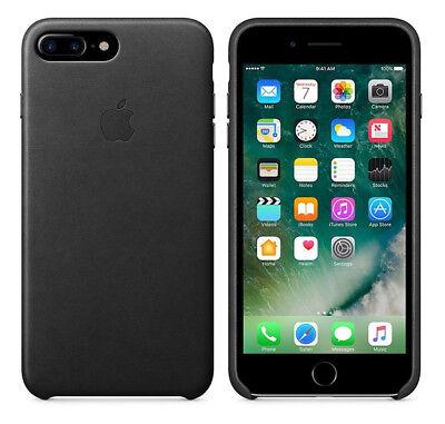 Original Apple Case iPhone 7 Plus / 8 Plus Leder Handy Cover Schwarz Black NEU Schwarz Leder Iphone