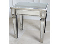 Brand New Mirrored Lamp Table Living Room Furniture