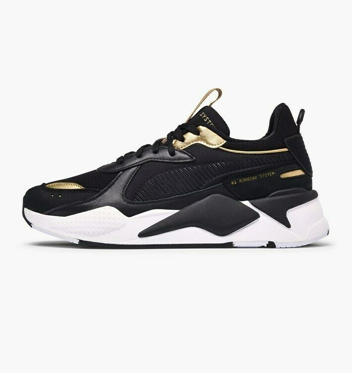 Puma RS-X Trophy Lifestyle Sneakers Black Gold Limited New Men Shoes 369451-01