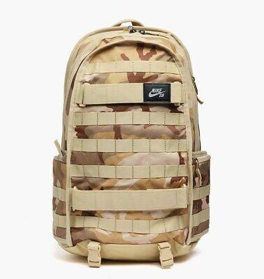 """Nike SB RPM Backpack Desert Camo Skateboarding Skate Fits 15"""" Laptop BA6118 220"""