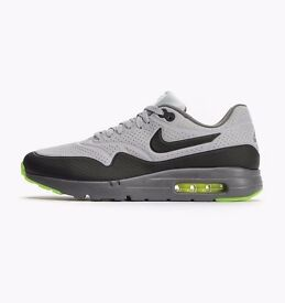 Air Max 1 Ultra Moire Wolf Grey / Black / Dark Grey Low Men's Sneakers new in box Size 6