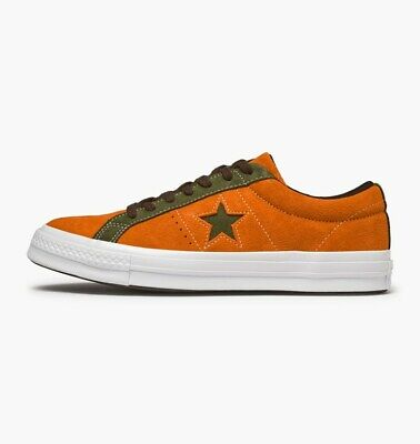 Converse Unisex One Star OX Bold Mandarin Lace Up Suede Trainers