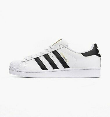Adidas Original Men's Superstar Shoes NEW AUTHENTIC White/Black C77124