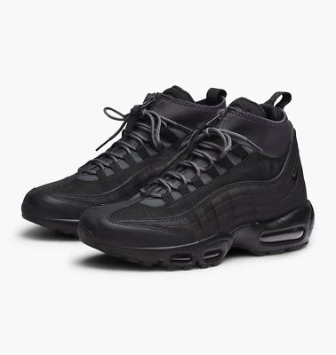 NIKE AIR MAX 95 SNEAKERBOOT, WINTER TRAINERS, UK9, BLACK/ANTHRACITE, 806809 001