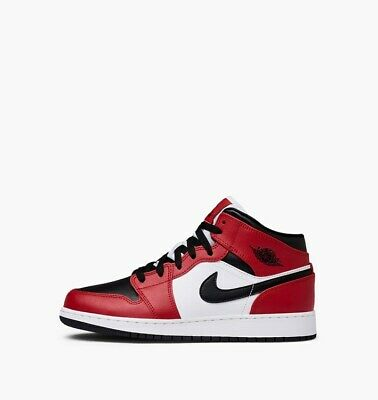 Air Jordan 1 Mid GS Chicago Black Toe Gym Red 554725-069