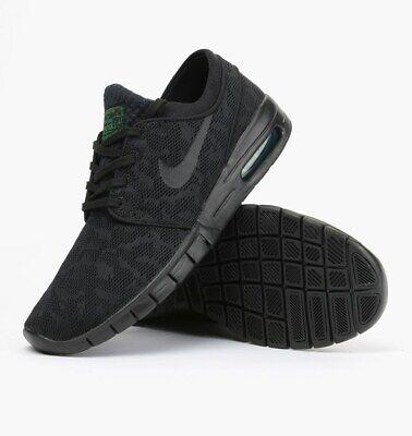 Nike SB Stefan Janoski Max Black / Pine Green Size: 11UK (631303-003) Skateboard