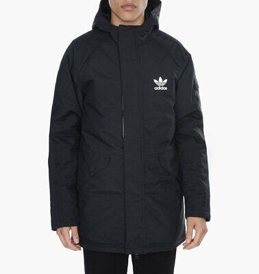 Adidas Originals Training Parka Jacket - Black / White