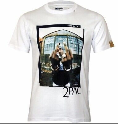 GENUINE REPLAY 2 PAC TRIBUTE T SHIRT LARGE RARE NEW BARGAIN LIMITED...